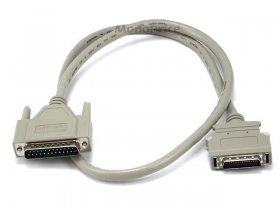 3' DB25(IEEE-1284) Male to Mini/Micro Centronic 36(HPCN36) Male