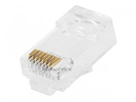 (8P8C) RJ45 Modular Plug With Insert (10Pk) For Cat6