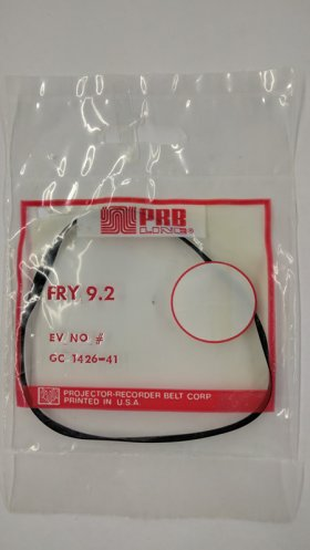 "FRY9.2 Flat Rubber Belt 9.2"" IC, .1"" CS, .031"" Wall Thickness"