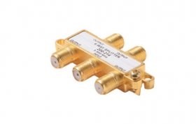 4-Way F Splitter 5-900MHz (Gold)
