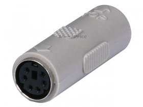 PS2 Coupler - Mini DIN6 F/F Molded Gender Changer