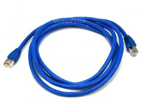 7Ft Cat6A 500MHz 24Awg Shielded Ethernet Network Cable (Blue)
