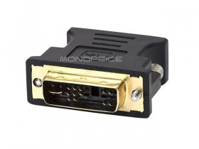 DVI-A Dual Link Male to HD15(VGA) Female Adapter (Gold Plated)