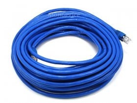 50Ft Cat6A 500MHz 24Awg Shielded Ethernet Network Cable (Blue)