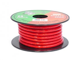 25Ft Red/Clear 8Awg Stranded Hookup Wire