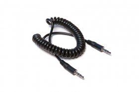 5Ft Coiled Stereo Interconnect 3.5mm TRS to Same