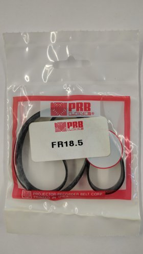 "FR18.5 Flat Rubber Belt 18.5"" IC, .315"" CS, .049"" Wall Thickness"