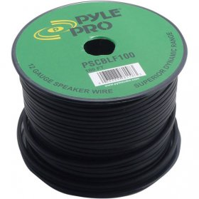 100' 12 AWG Spool Speaker Cable With Black Rubber Jacket