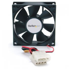 80x25mm Dual Ball Bearing Computer Case Fan w/ LP4 Connector