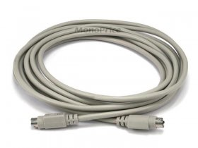 15' PS/2 Mini-DIN-6 Male to Male Cable