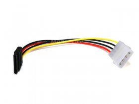 "6"" SATA 15pin Female to Molex 4pin Male Power Adapter"