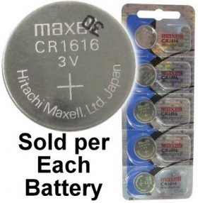 CR1616 Coin Cell Battery 3V Lithium Manganese Dioxide