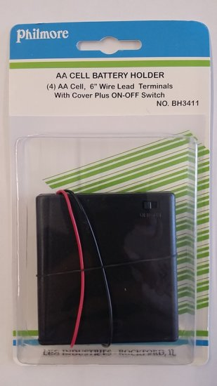 Battery Holder (4)AA Cover/Switch