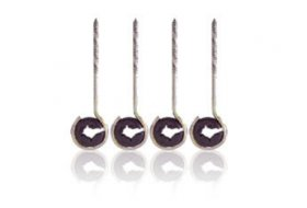 "Antenna Cable Standoff (4Pk) 3-1/2"" Woodscrew With Insulators"