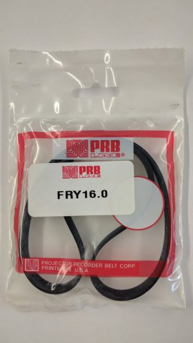 "FRY16.0 Flat Rubber Belt 16.0"" IC, .4"" CS, .058"" Wall Thickness"