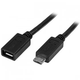 Micro-USB Extension Cable - M/F - 0.5m (20in)