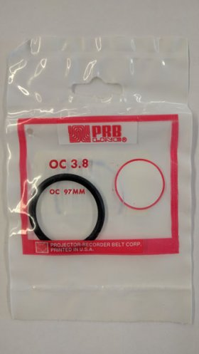 "OC3.8 Round Rubber Belt 3.8"" IC, .139"" Cross Section"