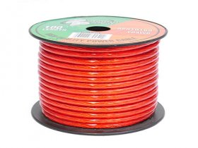 100Ft 10Awg Red Power Wire OFC