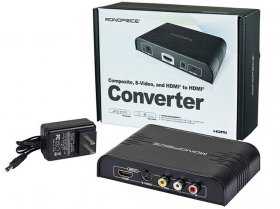 Composite, S-Video, and HDMI to HDMI Converter