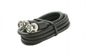 50' BNC Plug to BNC Plug RG-59/U 75-Ohm Coax Cable (Black)