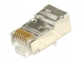 (8P8C) RJ45 Shielded Modular Plug With Insert (10Pk) For Cat6