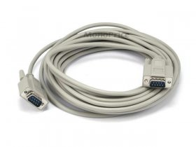 25' DB9 M/M Molded Serial Cable