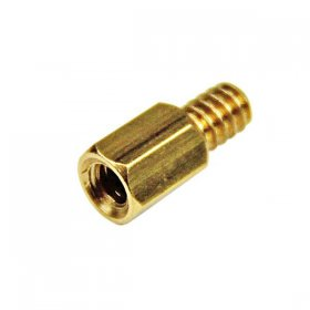 6-32 Brass Motherboard Standoffs for ATX Computer Case - 15 Pack