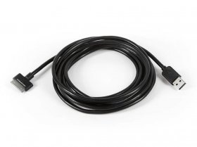 10' SlimFit USB Sync Cable for 30-pin iPad iPhone and iPod Black