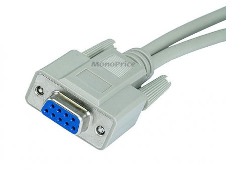 Serial Mouse or Monitor Splitter cable (1)DB9(F) to (2)DB9(M)