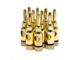 Banana Plugs Open Screw Type (Gold) Red/Black (5Pairs)
