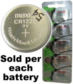 CR1220 Coin Cell Battery 3V Lithium Manganese Dioxide