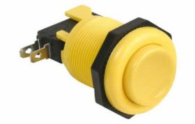 Push Button Arcade Game Switch (Yellow)