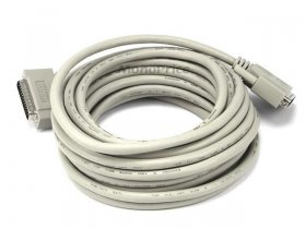 25' IEEE-1284 (DB-25) M/M Cable