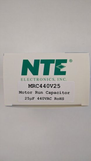 "Capacitor Motor Run AC Metallized 25uF 440VAC .25"" 4-Way Q.C."