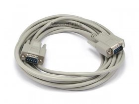 15' DB9 M/M Molded Serial Cable