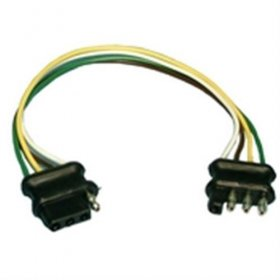 "4-Wire Polarized Trailer Wire Harness 12"" 16Awg"