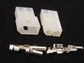 "2 Pin Male/Female Pair 0.093"" Pins 12A Mated Housings (Molex)"