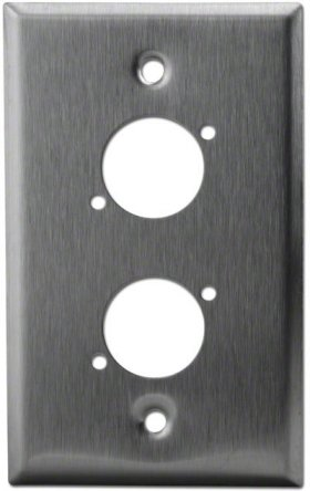 Dual Port Stainless Wall Plate For Square XLR