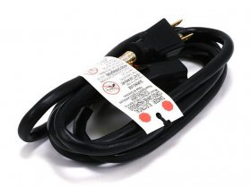 6Ft 16Awg Black Ext Cord SJT 16/3C (5-15P to 5-15R)