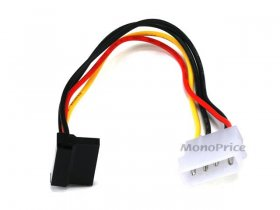 "8"" SATA 15pin Female to Molex 4pin Male Power Adapter 90°"