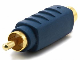 S-Video Male Plug to RCA Male Plug Adapter - Gold Plated