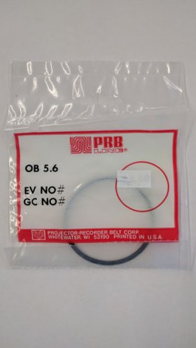 "OB5.6 Round Rubber Belt 5.6"" IC, .103"" Cross Section"