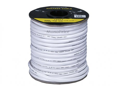 100' 12Awg Oxygen-Free Pure Bare Copper Speaker Wire 4-Conductor