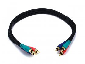 1.5' 3-RCA Component Video Cable 22Awg RG-59/U (Black)