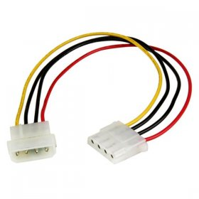 12in Molex LP4 Power Extension Cable – M/F