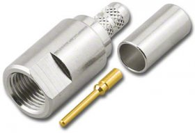 FME Plug 3-Piece Crimp RG-58/U