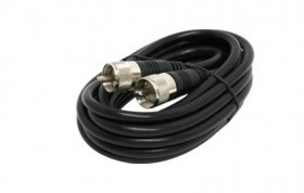 50' UHF Plug to UHF Plug RG8X 50-Ohm Coax Cable (Black)