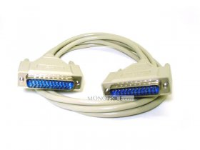6' Null Modem DB25 M/M Molded Cable