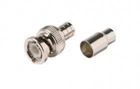 BNC Plug 2-Piece Crimp-On RG-59/U