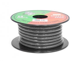 25Ft Black/Clear 8Awg Stranded Hookup Wire